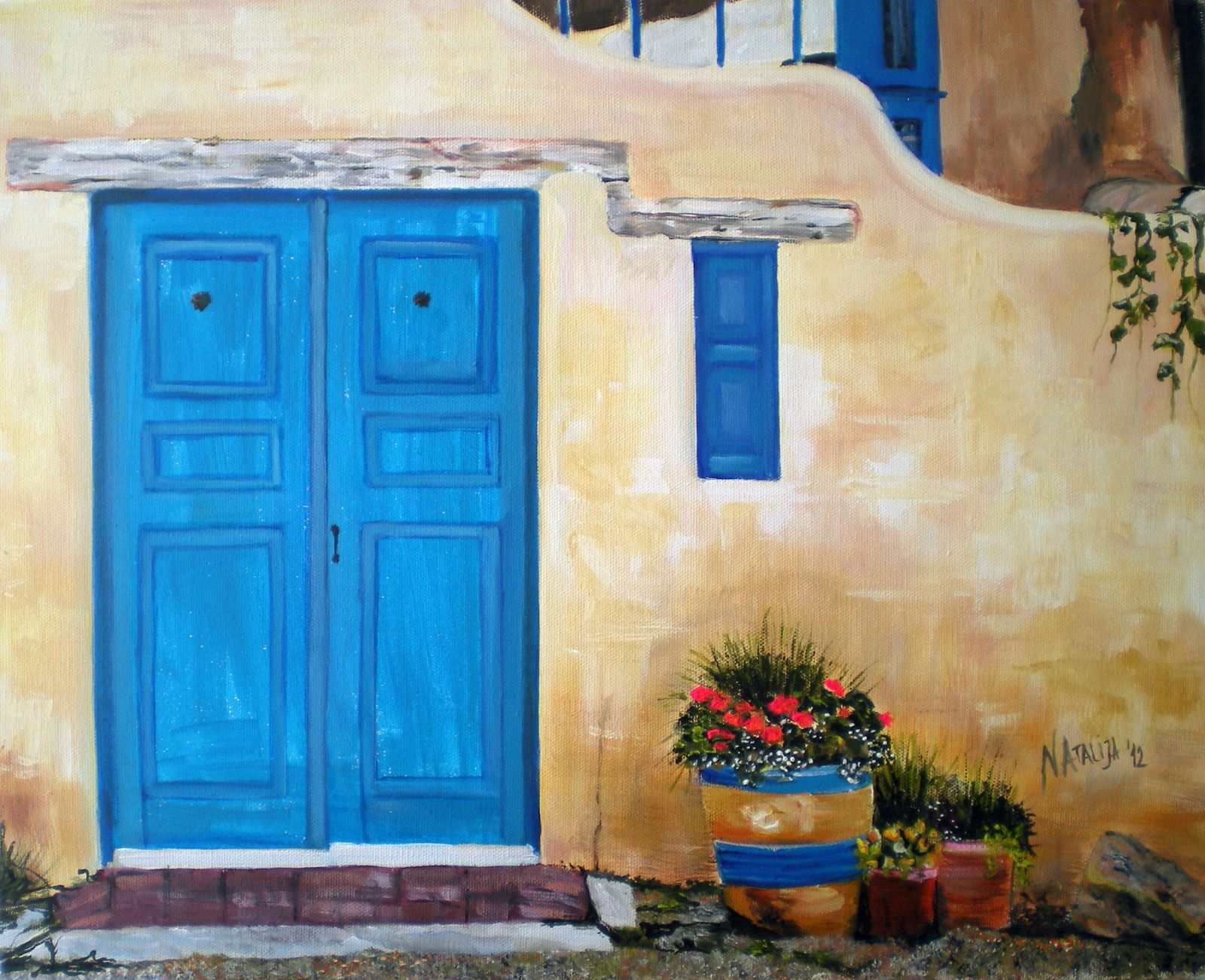painting of a door | Painting  Blue Door & painting of a door | Painting : Blue Door | Paintings to Do ...