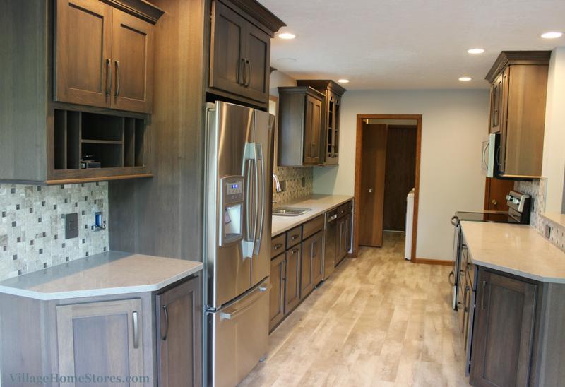 gray galley kitchen remodel in bettendorf ia with images galley kitchen design galley on kitchen remodel vinyl flooring id=65996