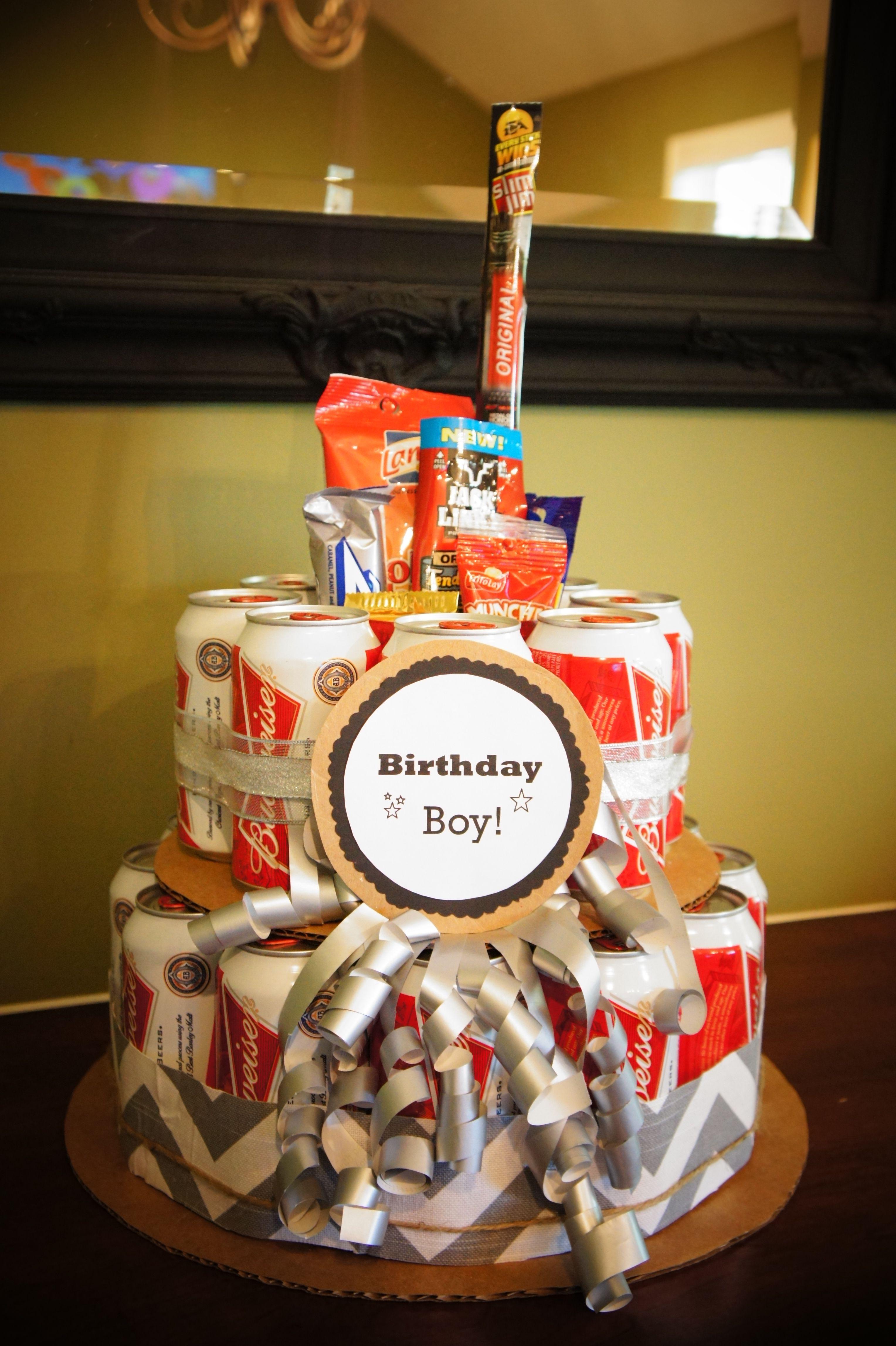 beer can cake i made coole ideen pinterest geschenke geburtstag und geschenkideen. Black Bedroom Furniture Sets. Home Design Ideas