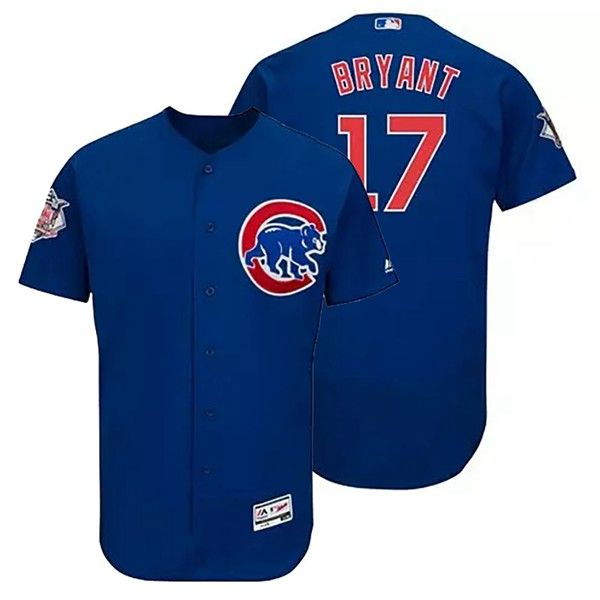 c2fd3a1c1 Chicago Cubs Kris Bryant  17 Authentic Collection Flexbase Majestic Royal Jersey  With Free Shipping