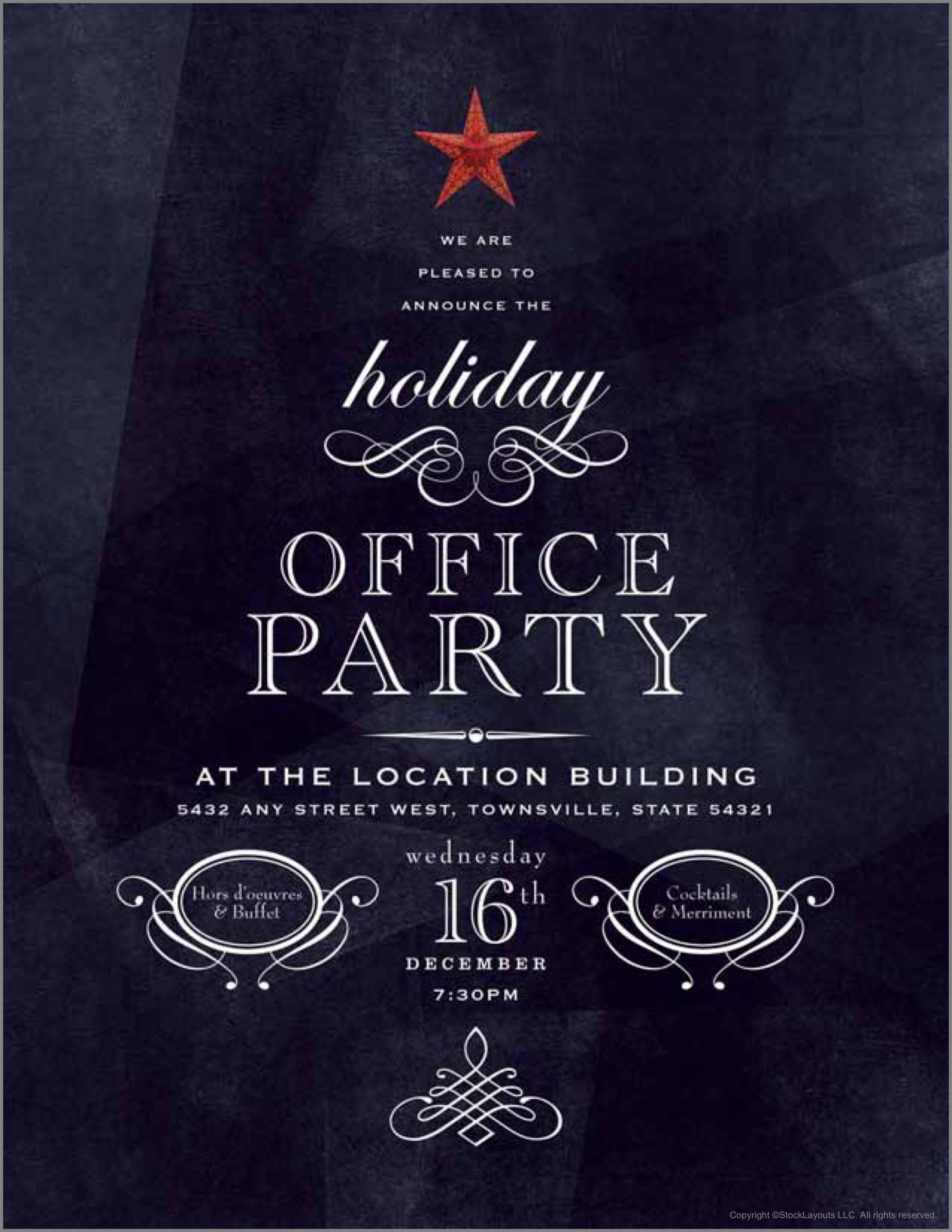 Office Christmas Party Invitation Design Template By Stocklayouts Holiday Party Flyer Christmas Party Invitation Template Office Christmas Party Invitation