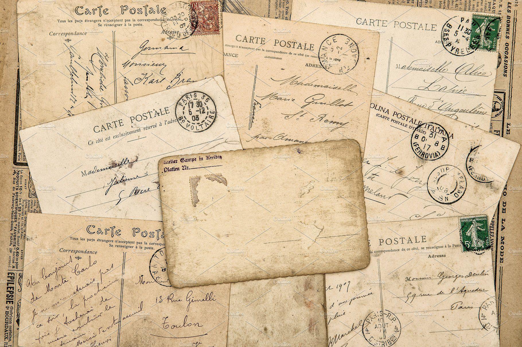 Vintage Postcards Handwritten Letter Vintage Postcards Handwritten Letters Postcard