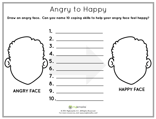 graphic relating to Anger Management Printable Worksheets titled Anger Take care of Package: Indignant in direction of Satisfied The Anger Box Coping