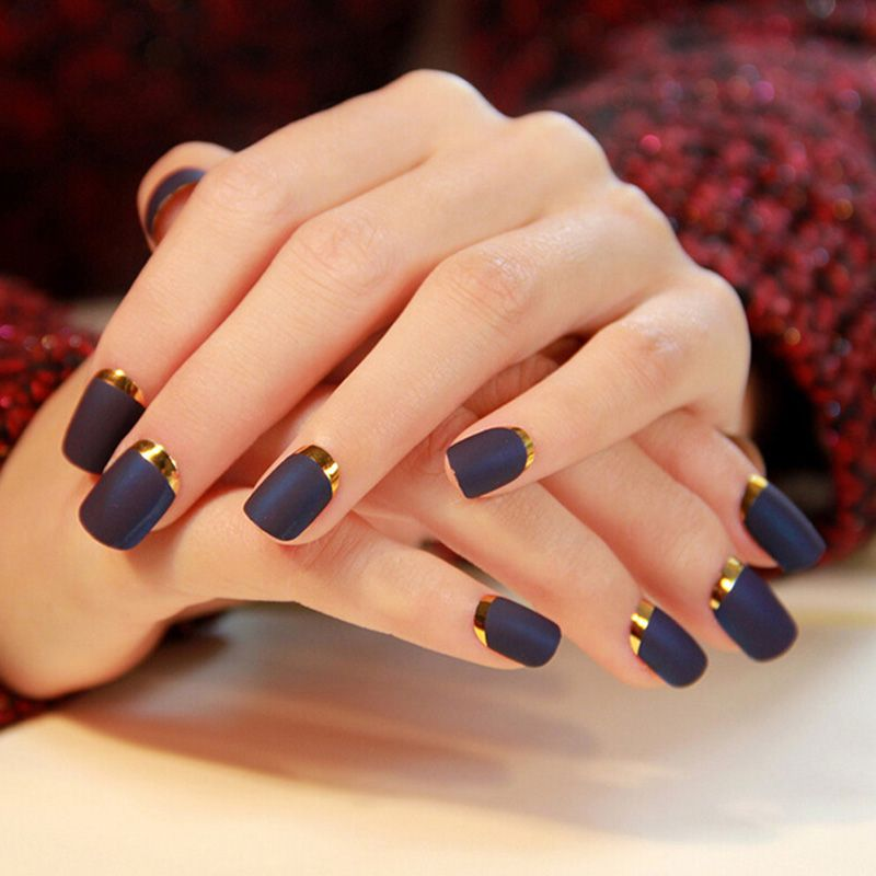 New Arrival 24Pcs/Lot French Style Excellent False Nail Finished ...