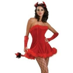 Sexy Adult Halloween Costumes Red Devil Dress Costume