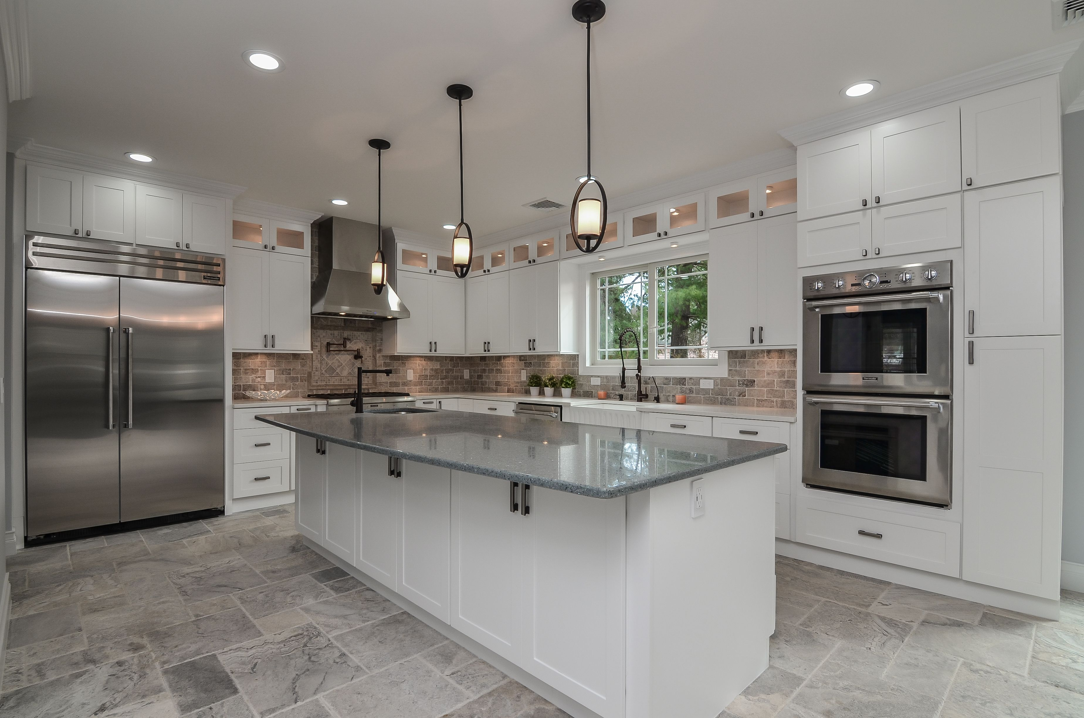 Kitchen With 10 Foot Center Island With Sink Professional Thermador Appliances Home Appliances Appliances Design Kitchen Aid Appliances