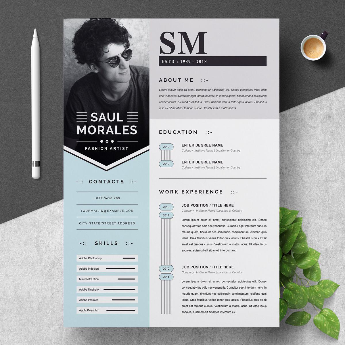 Saul Resume Template Ad Resume Saul Resume Template