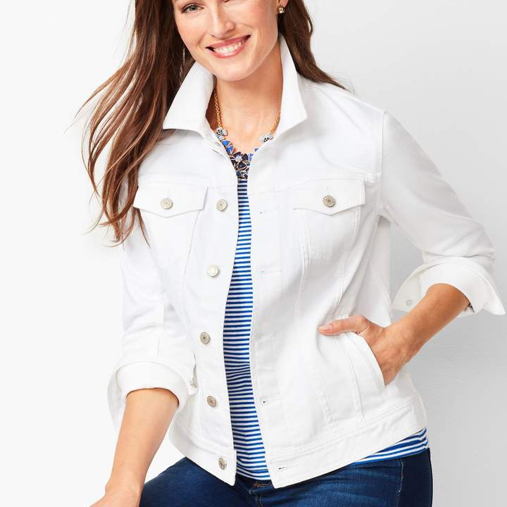 aa420931cb1a Classic Jean Jacket - White in 2019 | Products | Jackets, Cuff ...