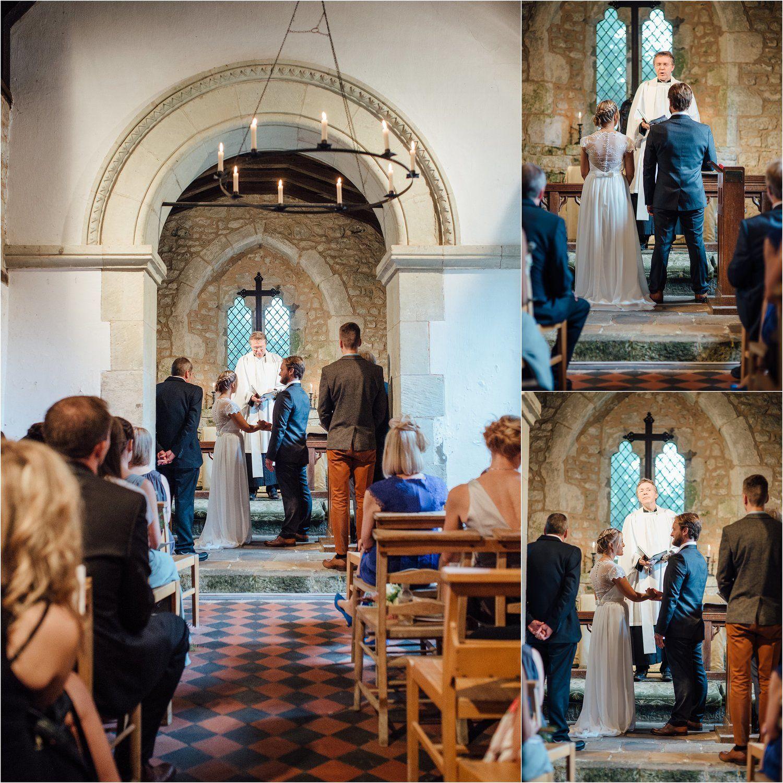 Wedding Ceremony At St Boniface Old Church Bonchurch St Boniface
