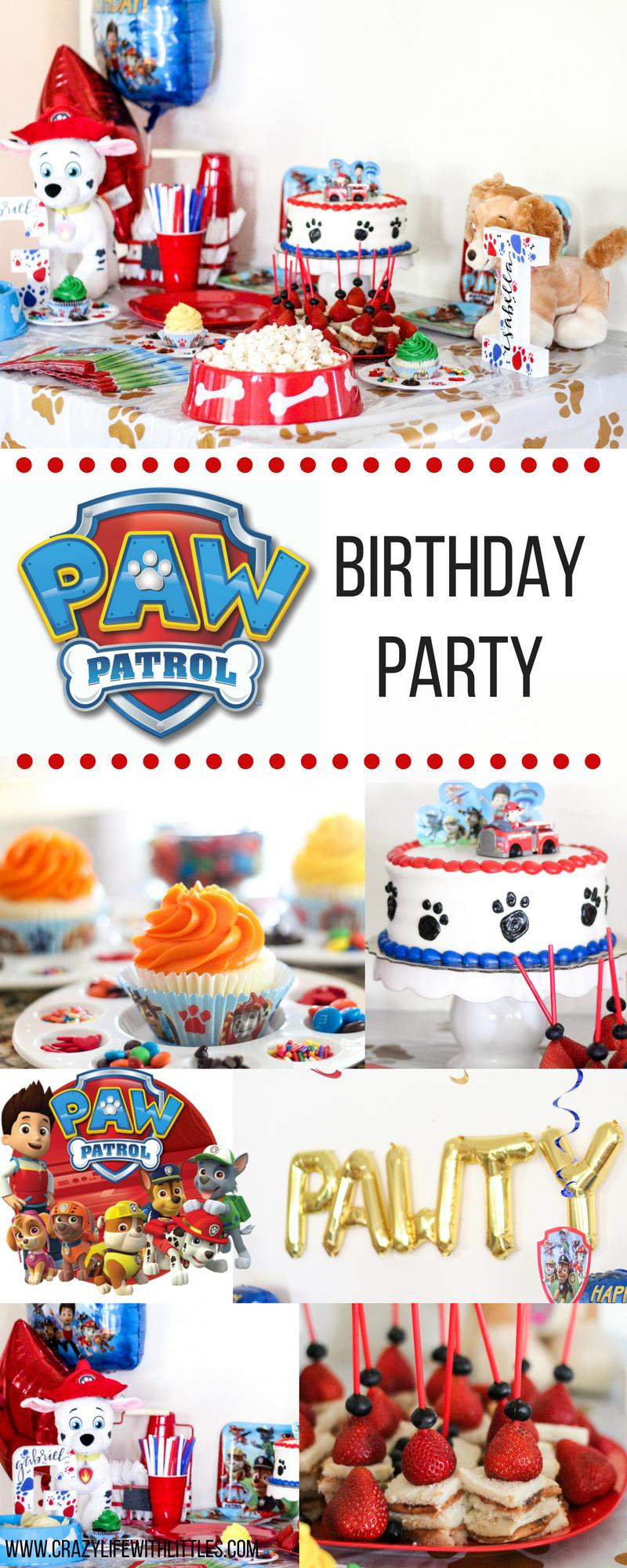 PAW PATROL BIRTHDAY PARTY Paw patrol decorations Paw patrol