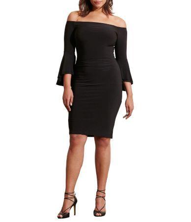Lauren Ralph Lauren Plus Off-the-Shoulder Sheath Dress #Dillards