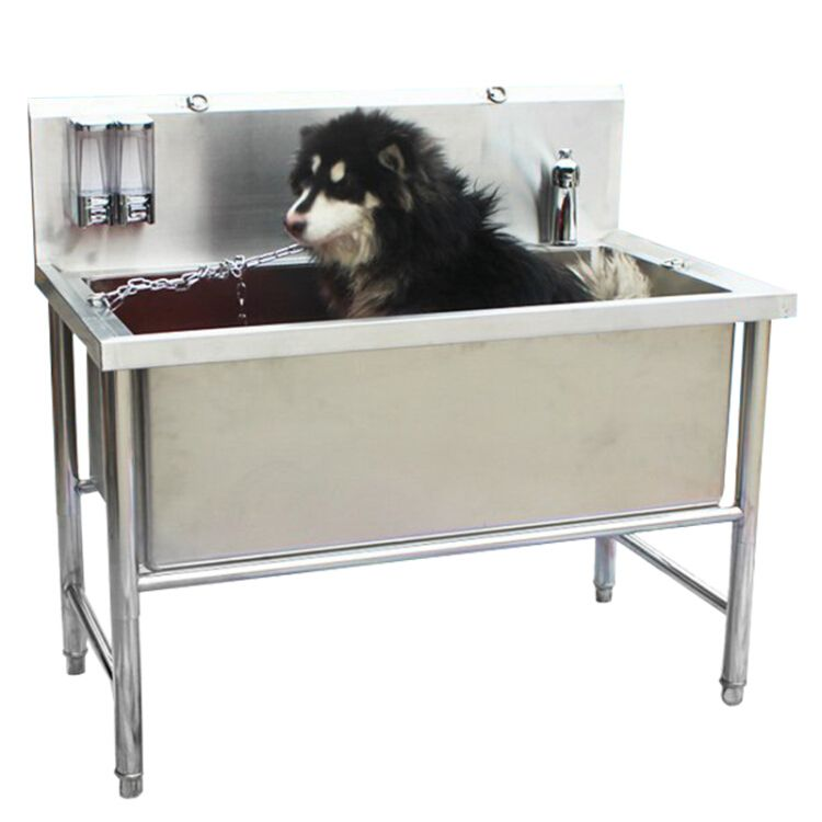 Pet Dogs Stainless Steel Bathtub Supplies Beauty Cat Dog A Bath
