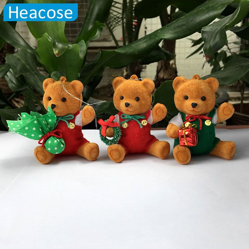3pcs/lot Kawaii Naked Bears Plush Toy Cartoon Bear Stuffed