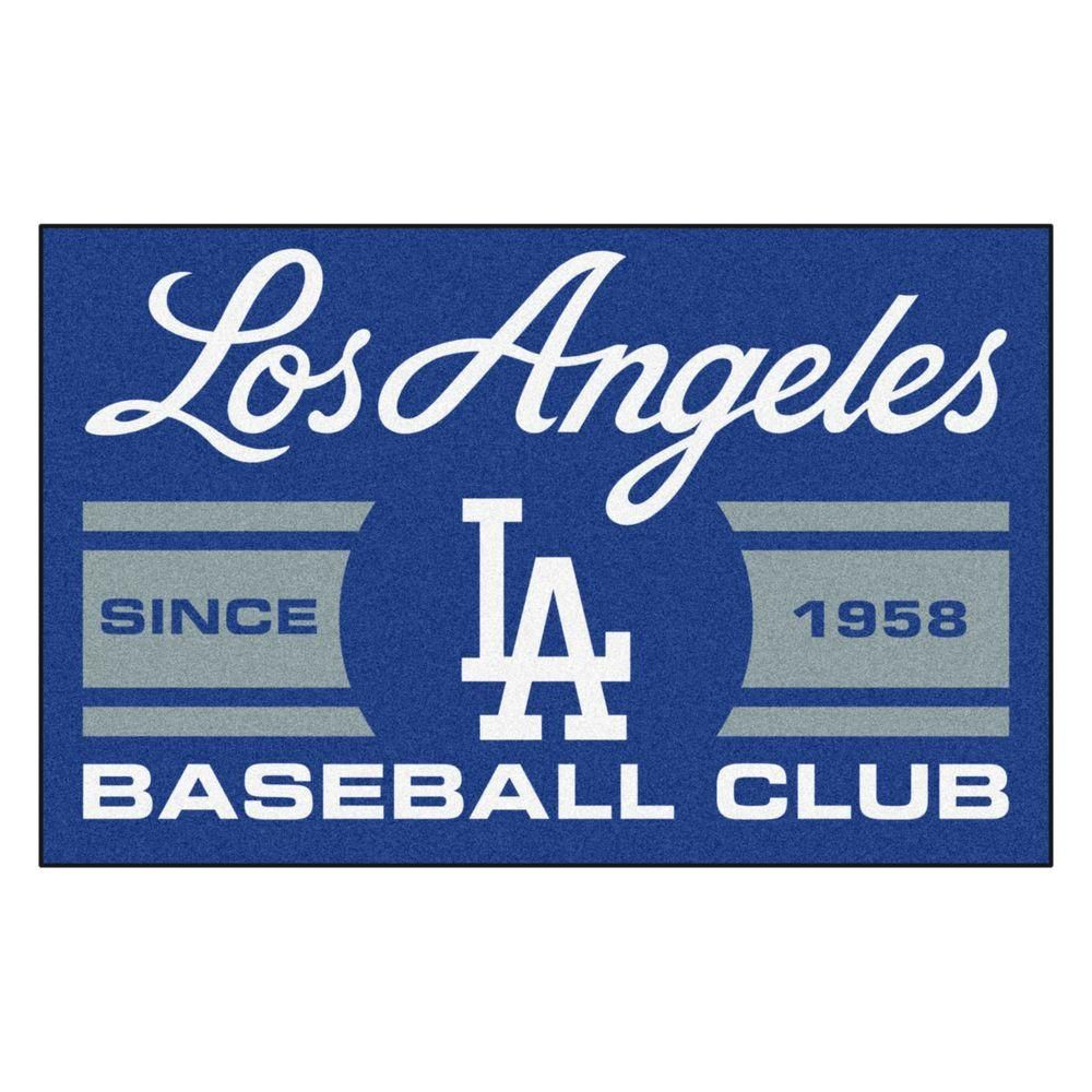 Fanmats Mlb Los Angeles Dodgers Gray 2 Ft X 3 Ft Area Rug 18472 Dodgers Uniforms Los Angeles Dodgers Dodgers Baseball