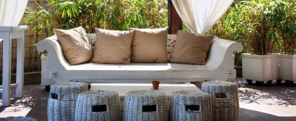 mobili da giardino in rattan e vimini per esterni - roma ... - Mobili Da Giardino Idee Dipinte