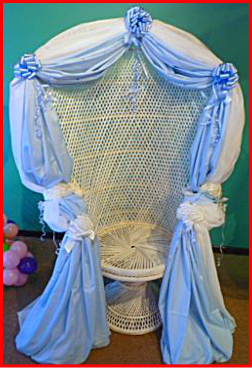 Blue Baby Shower Chair Decoration For Boys
