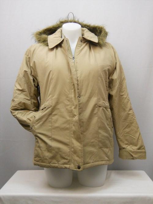 49.83$  Buy now - http://virmc.justgood.pw/vig/item.php?t=fmx5gp26225 - SIZE L Womens Ultimate Parka TUDOR COURT Beige Faux Fur Removable Hood Lined
