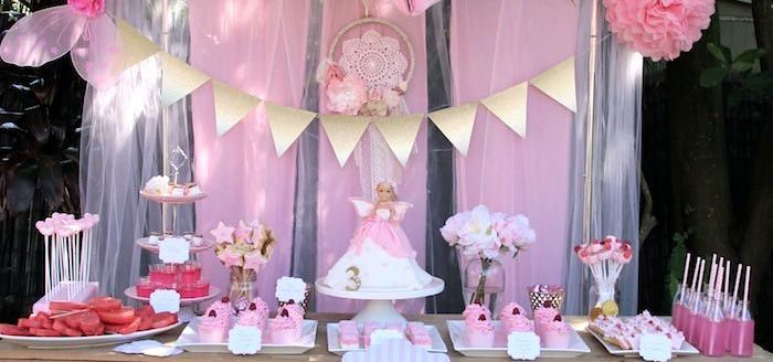 Pink Fairy 3rd Birthday Party- cute even a make ur own want station