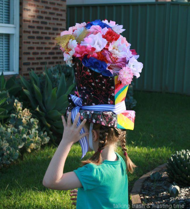 talking trash wasting time diy easter hat parade ideas