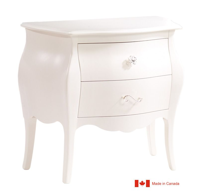 Captivating Natart Allegra Nightstand In French White   Natart Is A Greenguard  Certified Manufacturer, Low VOC Cribs U0026 Furniture   Solid Wood Construction    Made In ...