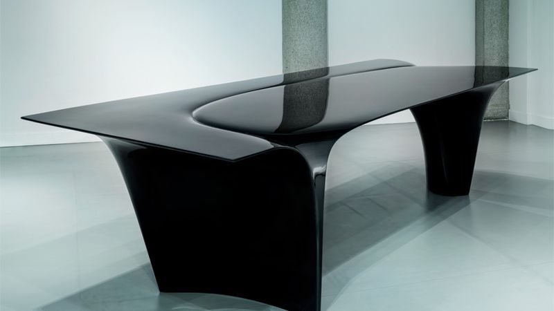 Zaha Hadid's 'Mew' Table, an Artful Oil Slick, Was One of Her Last Designs - Curbed