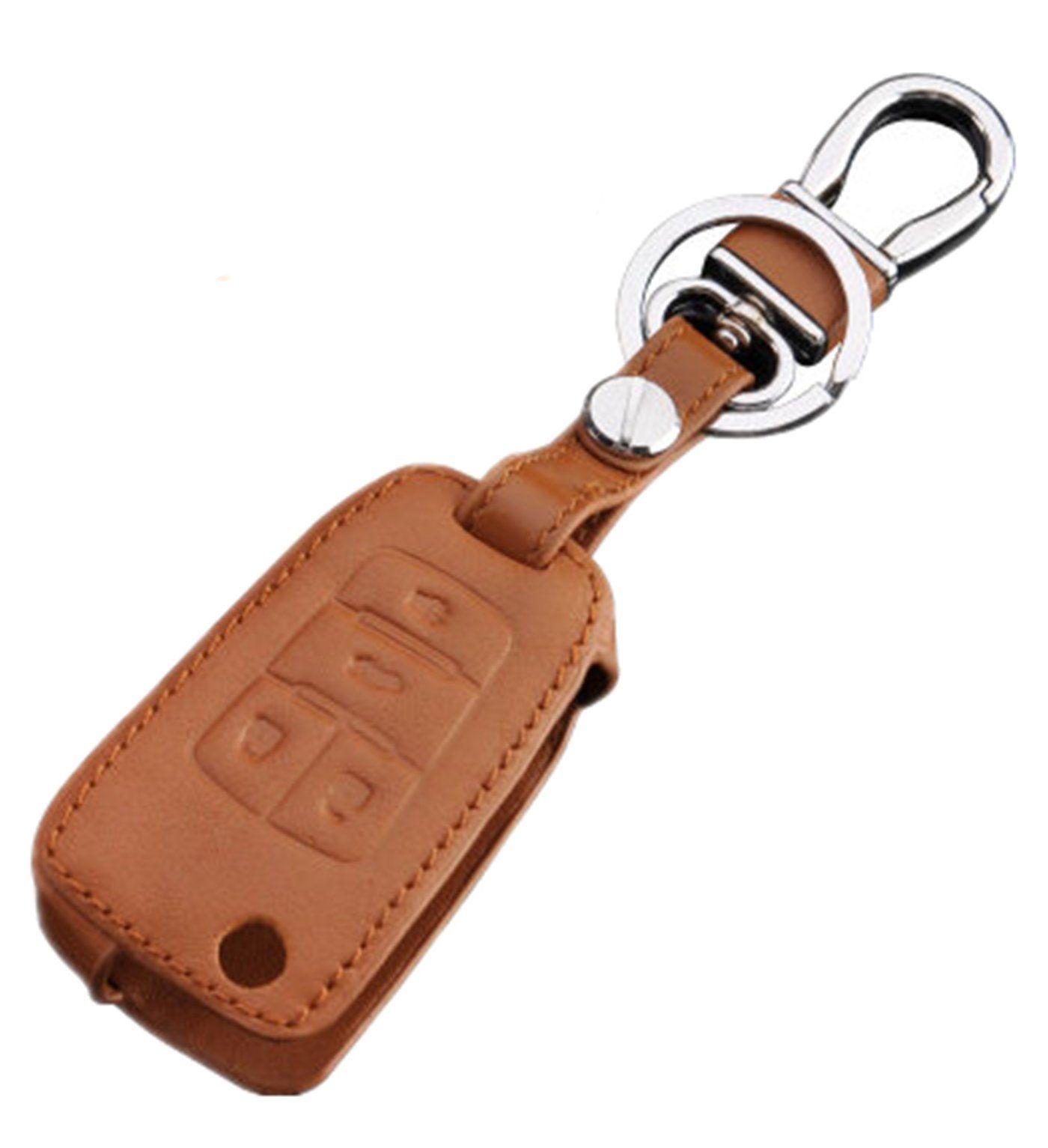 Kawihen leather smart remote key fob case holder cover for