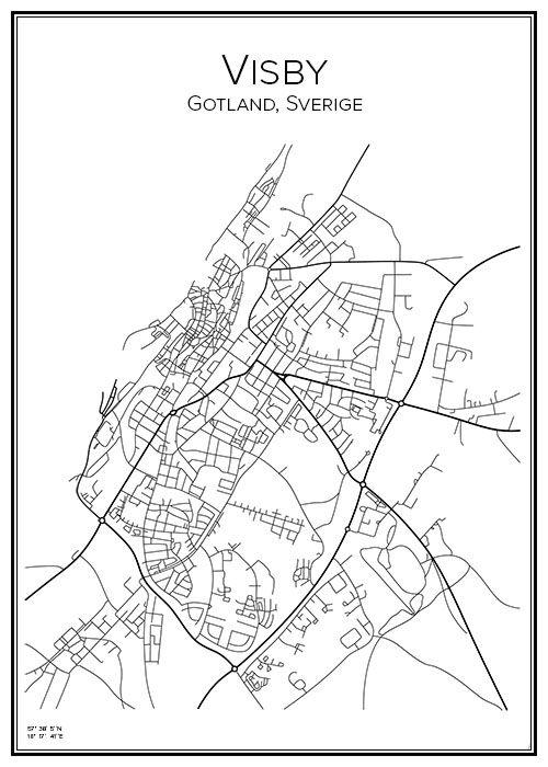 karta gotland visby Visby | City maps, Cartography and City karta gotland visby