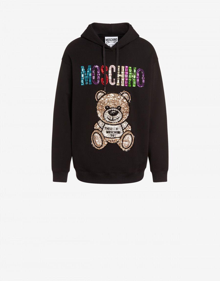Teddy Embroidery Cotton Sweatshirt Cotton Sweatshirts Sweatshirts Moschino [ 1148 x 900 Pixel ]