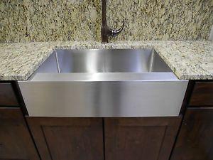 "36"" Stainless Steel Farmhouse Front Apron Single Bowl Kitchen Sink | eBay"
