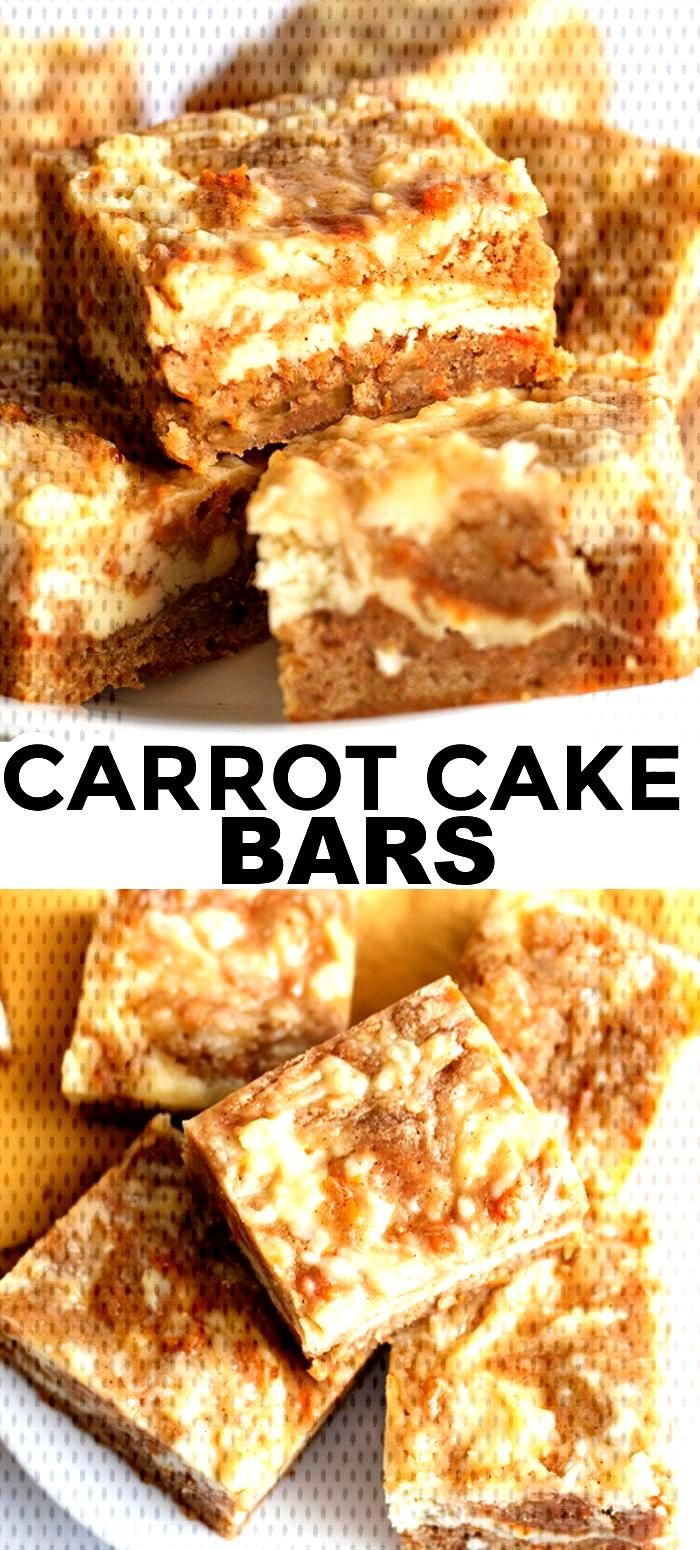 Carrot Cake Bars Carrot Cake Bars - These carrot cake bars are so moist and delicious! They have a