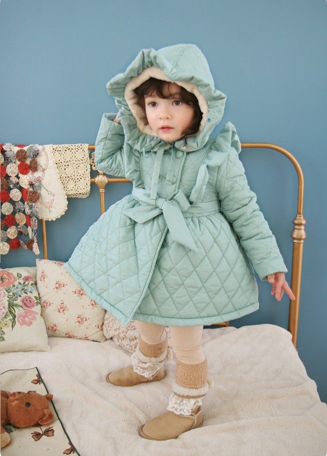 $58.99 so stinkin' cute!  blue trench coat jacket by Vindie babywear