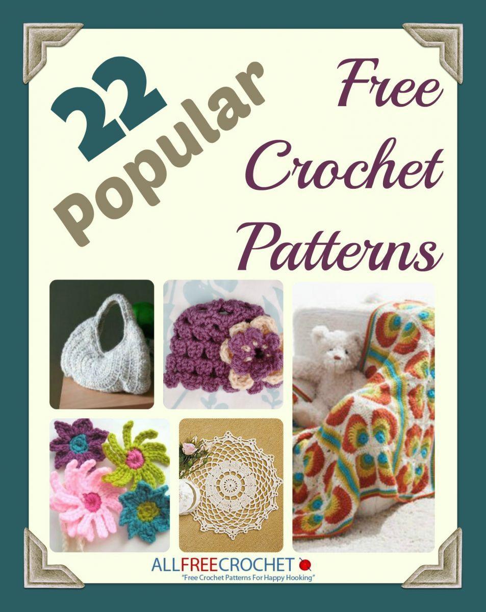 22 Popular Free Crochet Patterns Ebook Free Crochet Crochet And