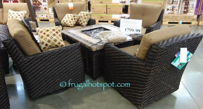 Awesome Is It Time To Upgrade Your Patio Furniture? Costco Has The Agio  International Woven Fire Chat In Stores For A Limited Time.