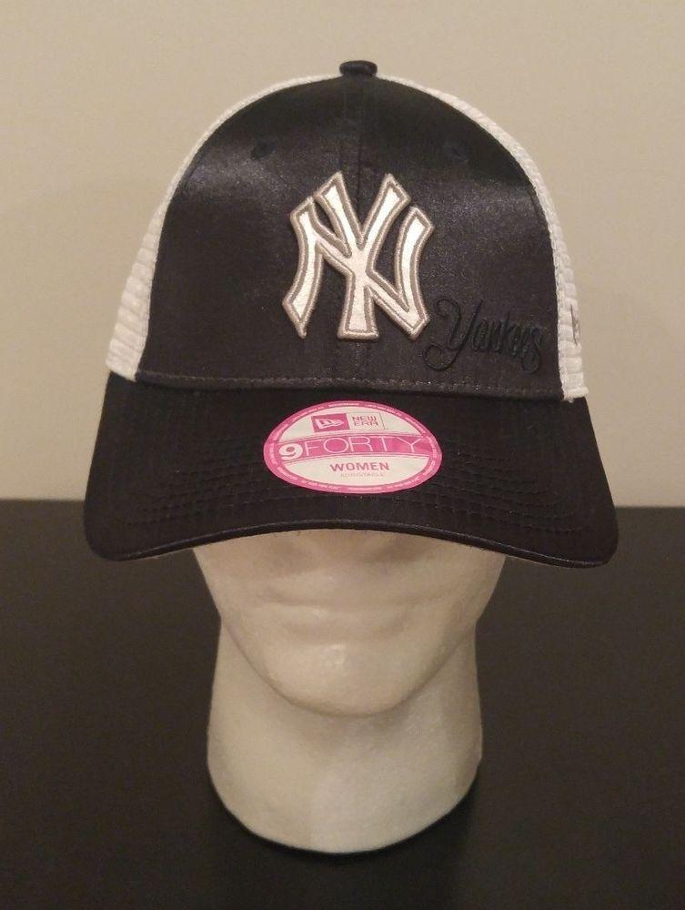 cce46a46fa NEW ERA 9Forty New York Yankees MLB Baseball Mesh Hat Cap Women's  Adjustable NYY #NewEra #NewYorkYankees