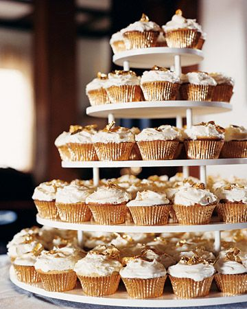 Carrot cake cupcake tower