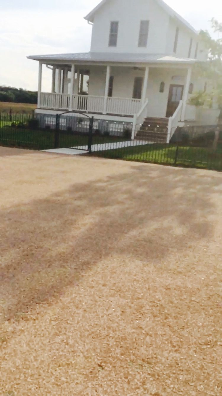 Chip And Seal Driveways Are Half The Cost Of Asphalt And Gives A Natural Look With Native Stone Asphalt Driveway Repair Driveway Repair Backyard