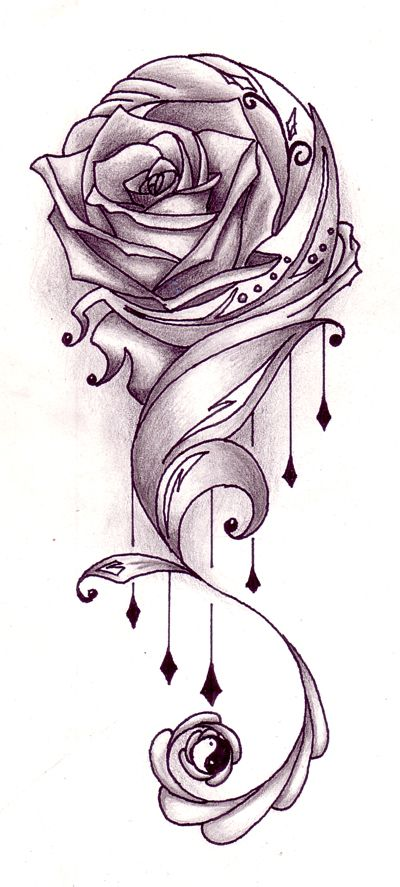 Rose With Vines Tattoo Design Is One Of The Tattoo Ideas Listed In