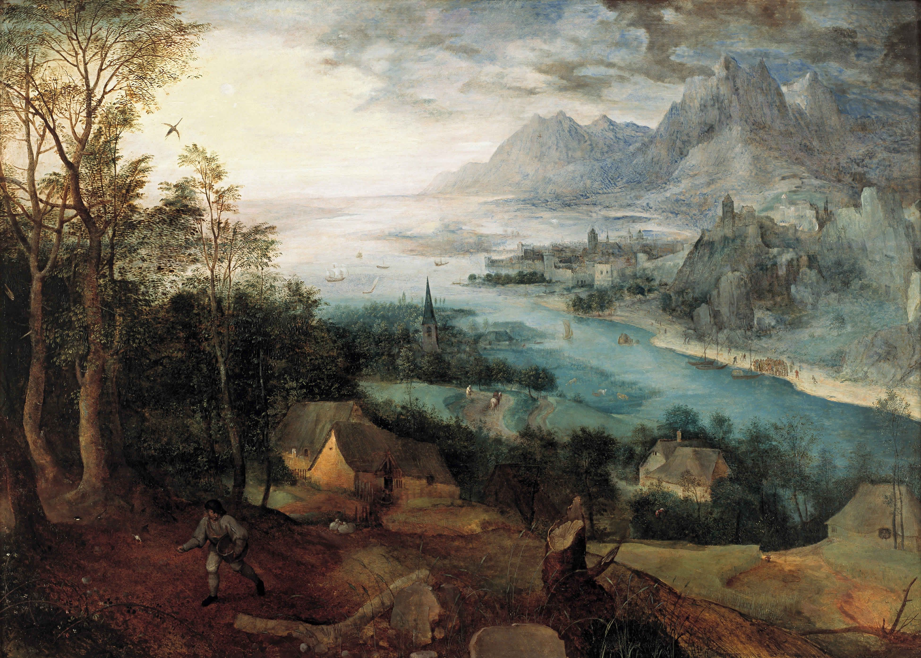 Landschaftsmalerei renaissance  Bruegel the Elder - Parable of the Sower 1557.   Grand 18th-19th C ...