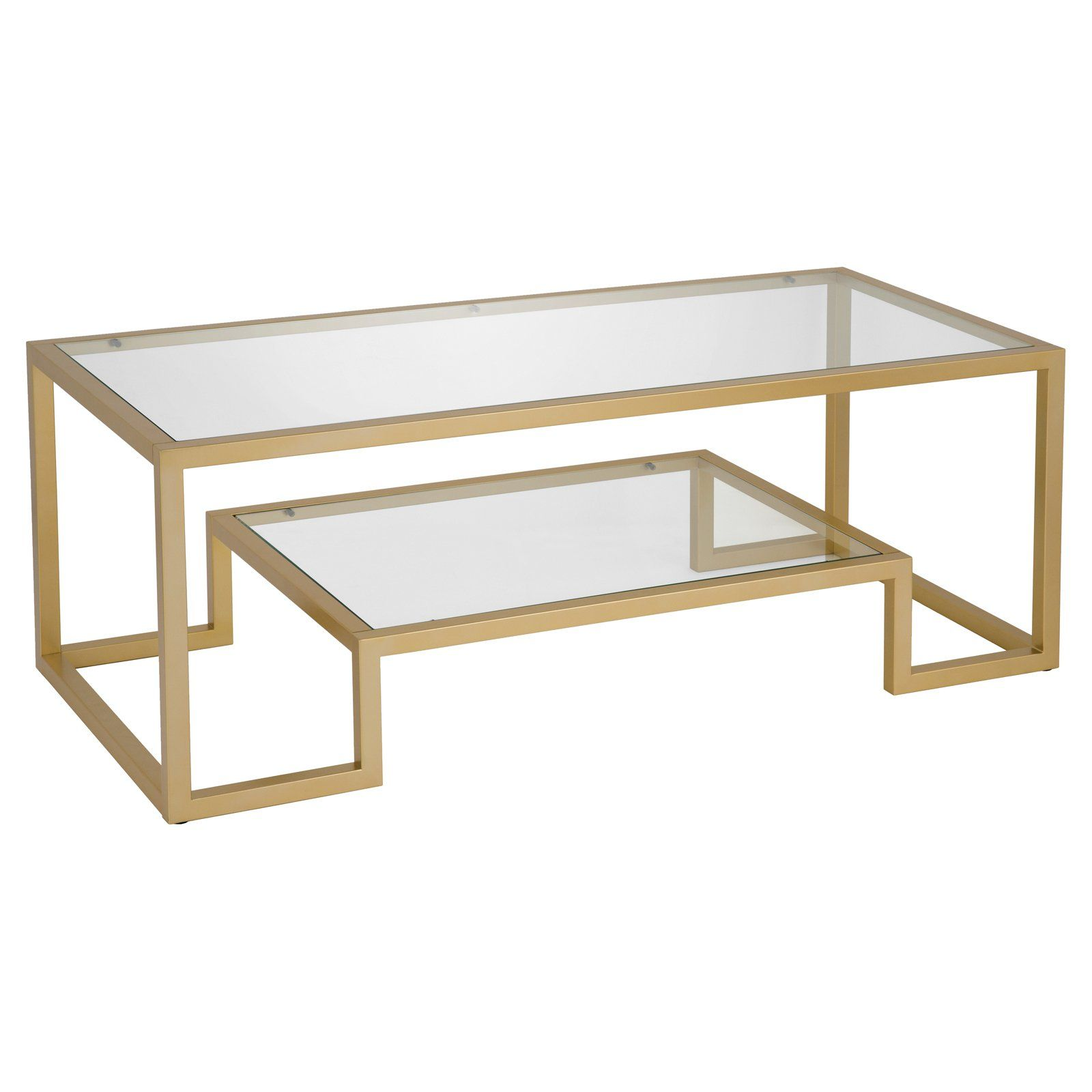 Hudson Canal Athena Coffee Table In 2020 Table Gold Kitchen Glass Panels