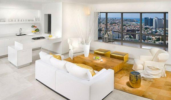 Orientalische Gestaltung durch chinesische Gartenstühle GREAT - wohnzimmer weis gold