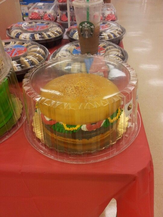 Vanilla hamburger cake. Awesome.