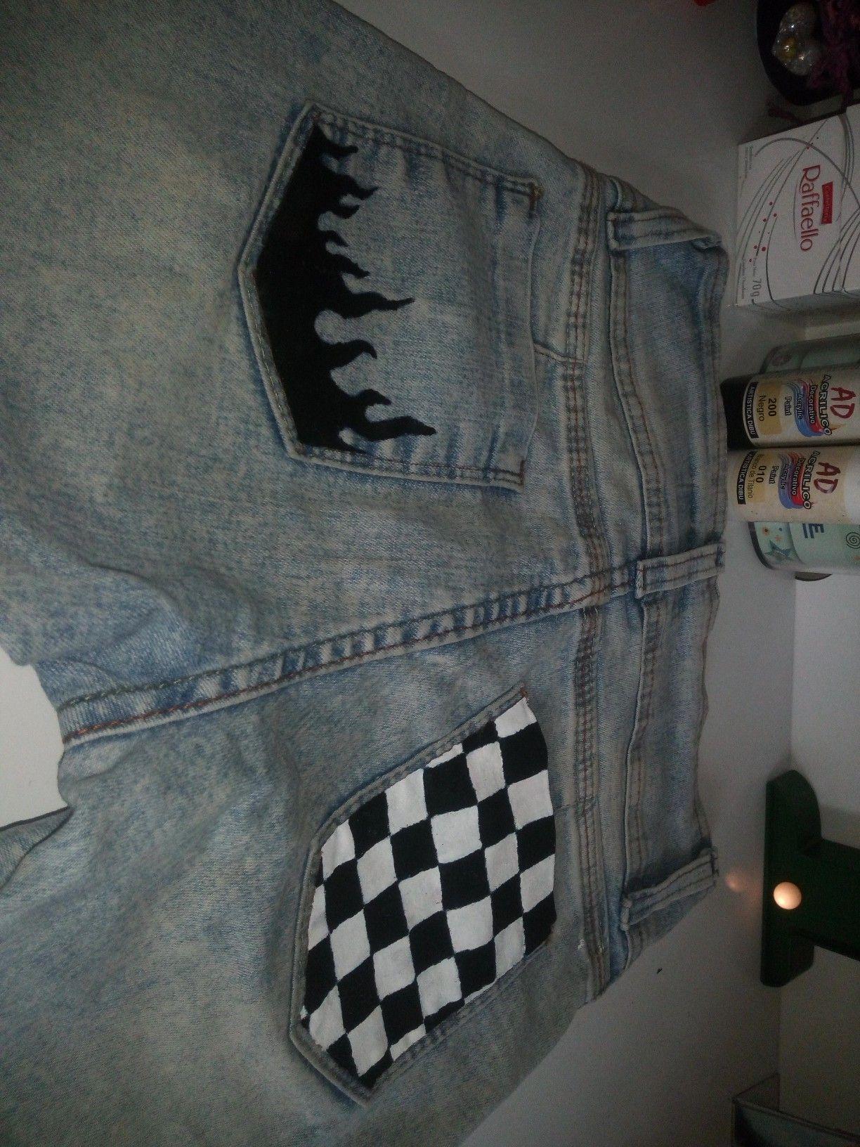 Pin de Karla Sánchez en jeans pintados en 2020 | Pintura ...