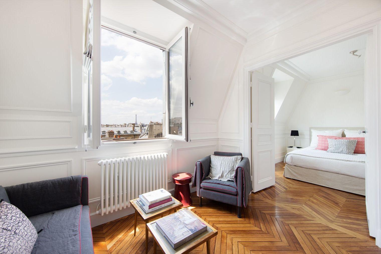 Appartement Paris 6 Un 25 M2 Rénové Dans Un Style Classique Intérieurs D Appartements Parisiens Appartement Intérieur D Appartement