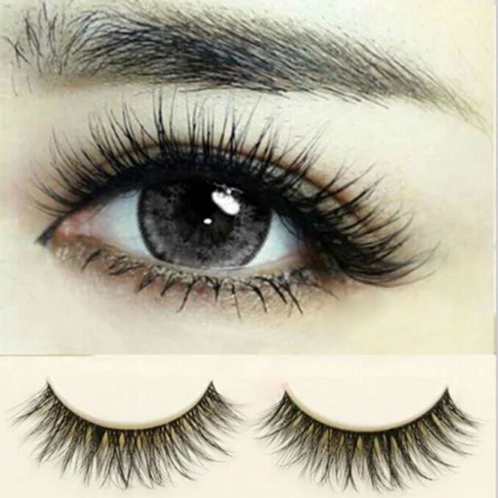 Natural Long Eye Lashes Makeup Handmade Thick