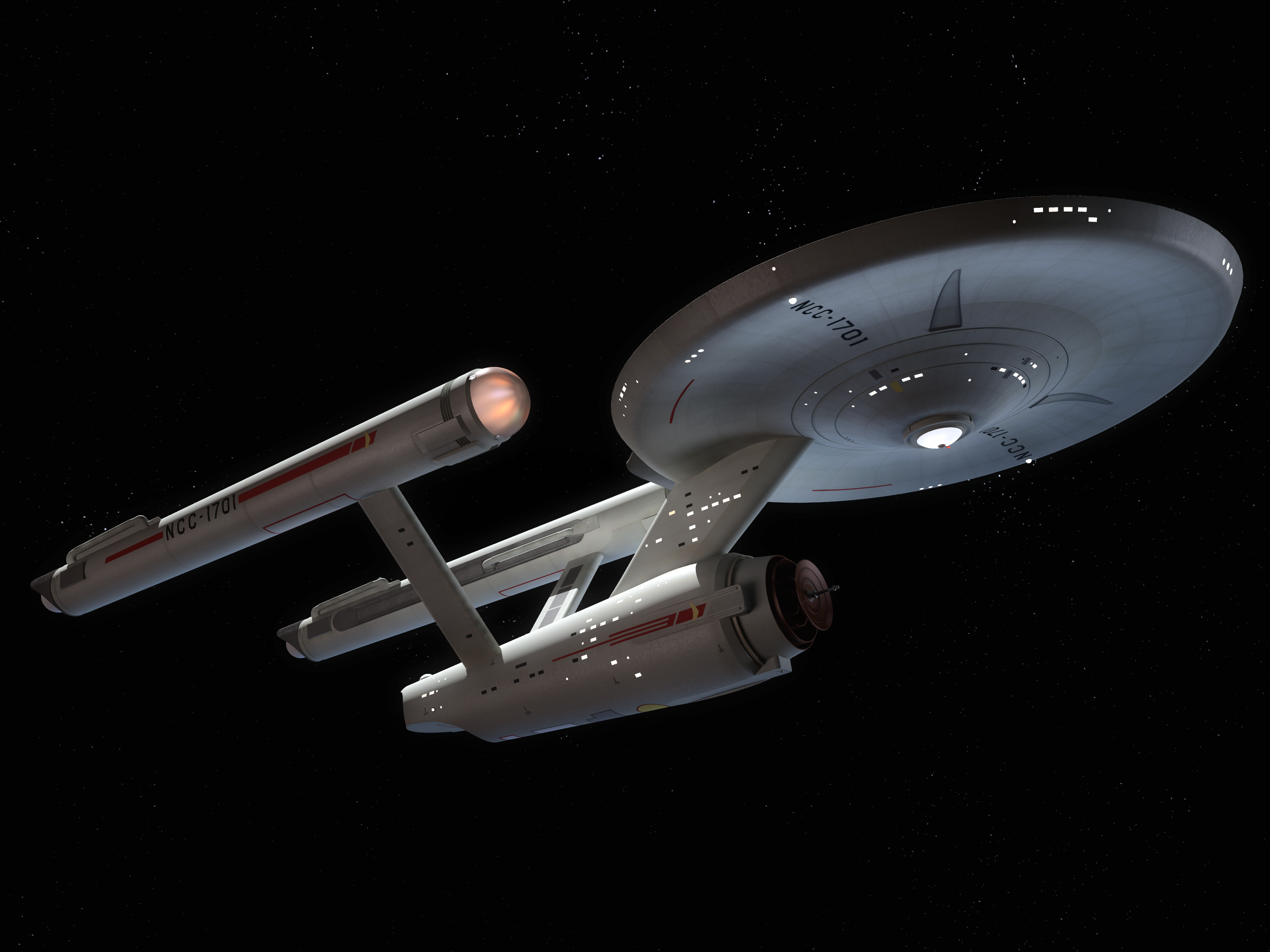 Renderings Of The Starship Enterprise For Round 2 Llc For Packaging And Brochure Illustrations Of Their 1 X2 Star Trek Art Uss Enterprise Starship Enterprise