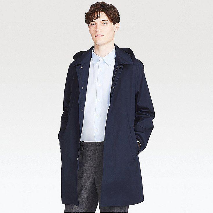 HERREN BLOCKTECH umlaufender Kragen mantel | Mantel, Kragen