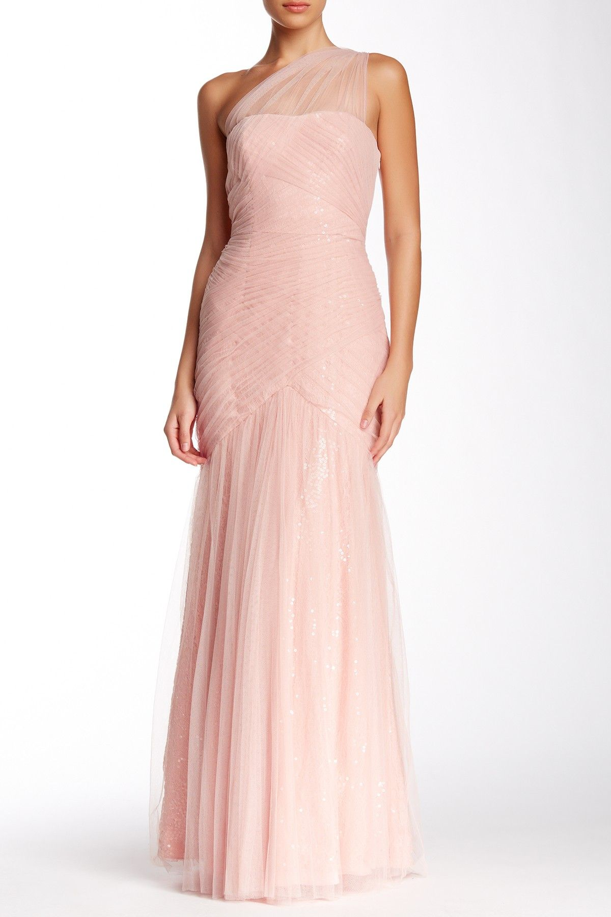 One Shoulder Ruched Gown | Monique lhuillier, Gowns and Shoulder
