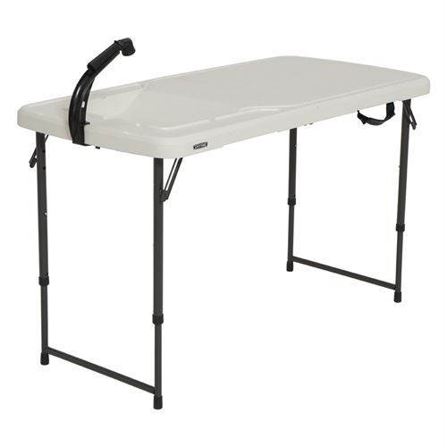 Lifetime 4 Foot Portable Outdoor Table With Sink Outdoor Tables Outdoor Sinks Table