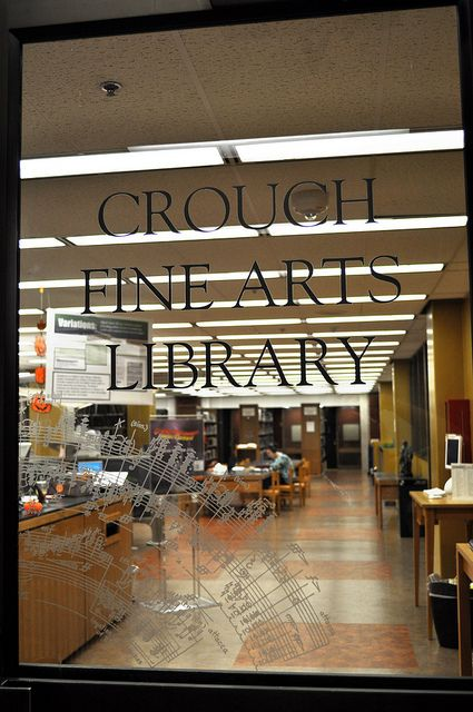 baylor university crouch fine arts library sign
