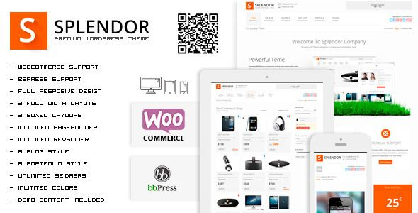 Splendor - Premium Corporate & eCommerce WP Theme - WordpressThemeDB ...